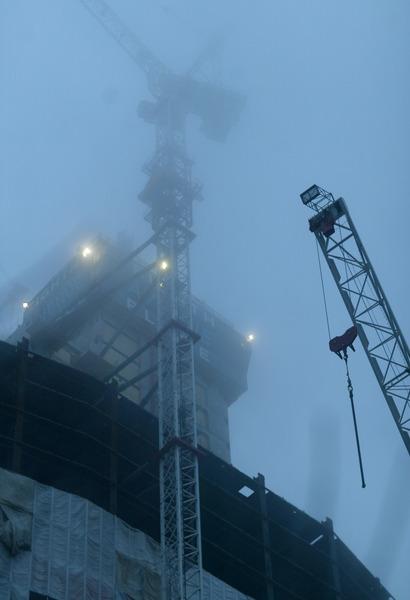 Hoch im Nebel